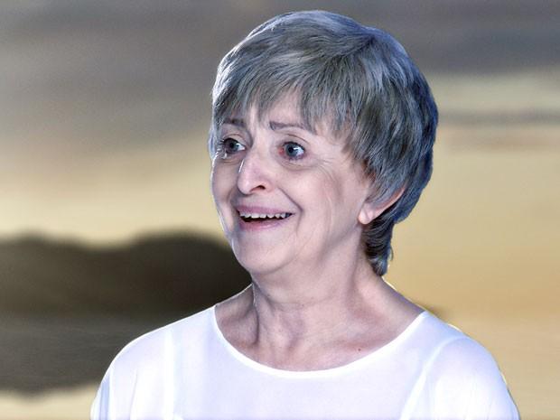 Verbena quase explode de alegria com a notícia (Foto: Amor Eterno Amor/TV Globo)
