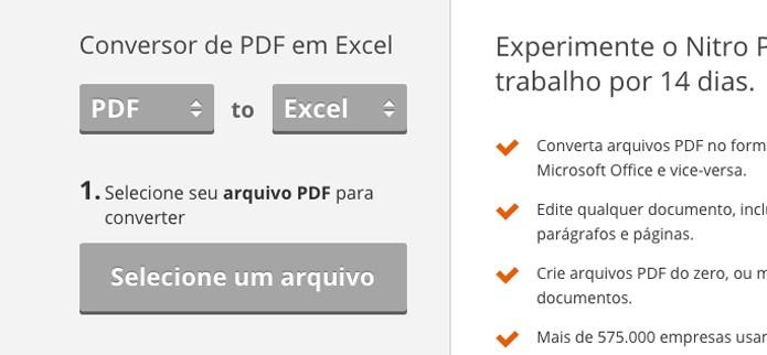 converter pdf em excel download