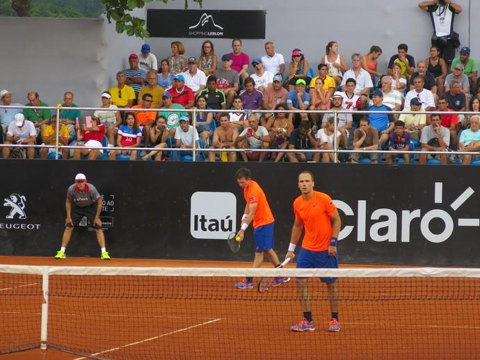 Bruno Soares e Peya, tênis, Rio Open (Foto: Thiago Quintella)