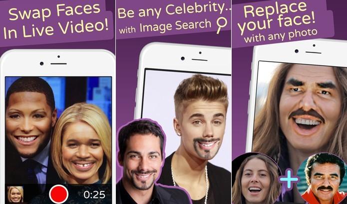 Face Swap Live permite troca de rostos (Foto: Divulgação/Face Swap Live)