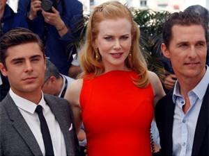 Os atores Zac Efron, Nicole Kidman e Matthew McConaughey, de 'The paperboy', em Cannes (Foto: Reuters)