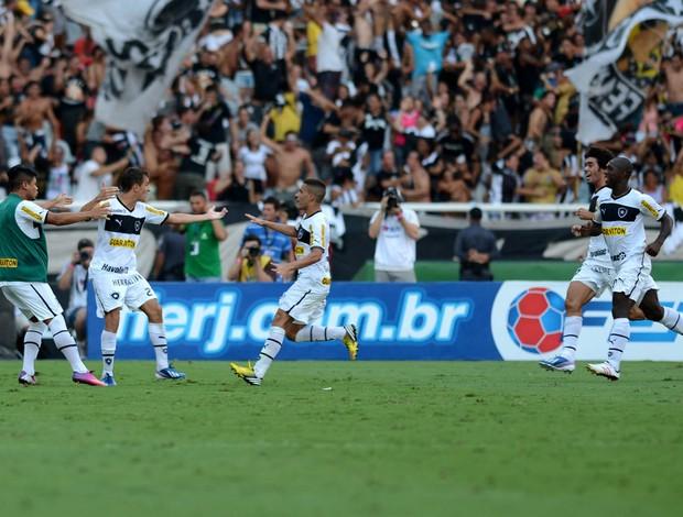Botafogo comemora gol sobre o Vasco (Foto: André Durão)