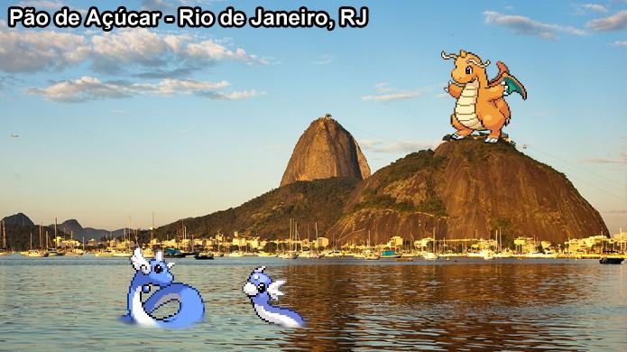 Há poucos pokémons do tipo Dragão em Pokémon Go e eles estão nos pontos mais importantes das cidades (Foto: Reprodução/Rafael Monteiro)