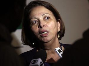 A ministra Ideli Salvatti, em entrevista no Congresso (Foto: Antônio Araujo/Câmara )