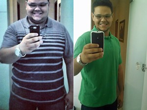 Thiago perdeu 54 kg em 7 meses (Foto: Arquivo pessoal/Thiago Lisboa Pereira)