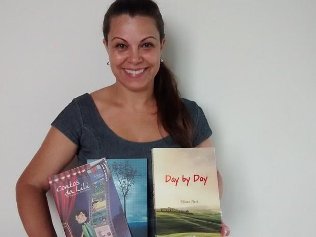 Primeira vez: Escritora de Barra Mansa lança trilogia na Flip (Foto: Cristiane Mendes/G1)