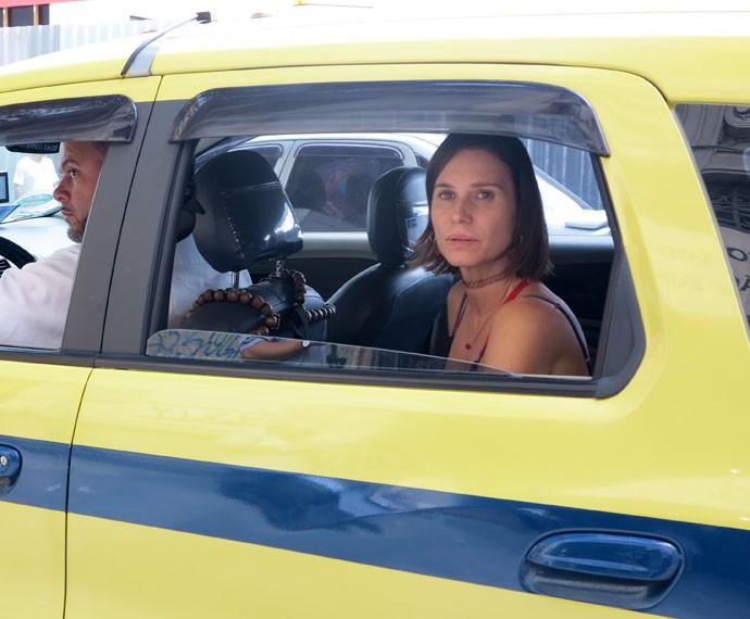 Paula Burlamaquy em uma das primeiras cenas como Suely (Foto: Gabriela Freitas)