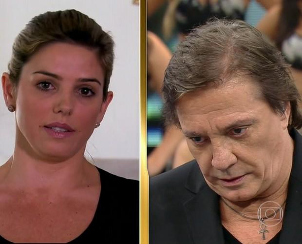 Mari Alexandre fala sobre Fábio Jr. no Arquivo Confidencial (Foto: Domingão do Faustão / TV Globo)