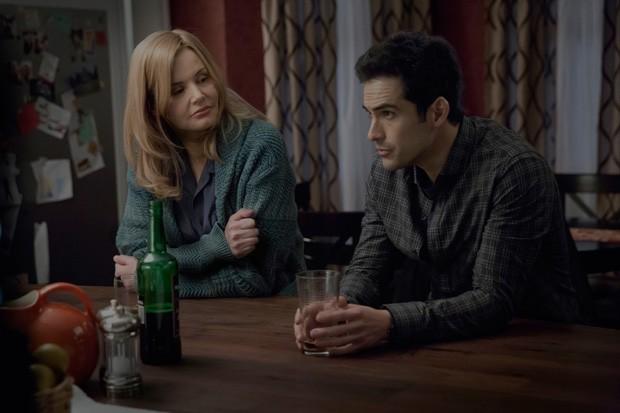 Alfonso contracena com Geena Davis em 'O Exorcista' (Foto: Divulgação)