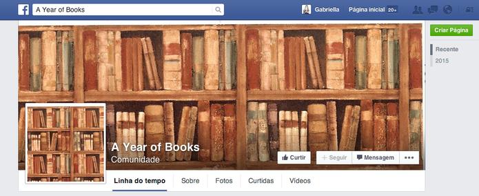 Nova página de Mark Zuckerberg, A Year of Books, vai mostrar desafio do CEO (Foto: Reprodução/ Facebook)