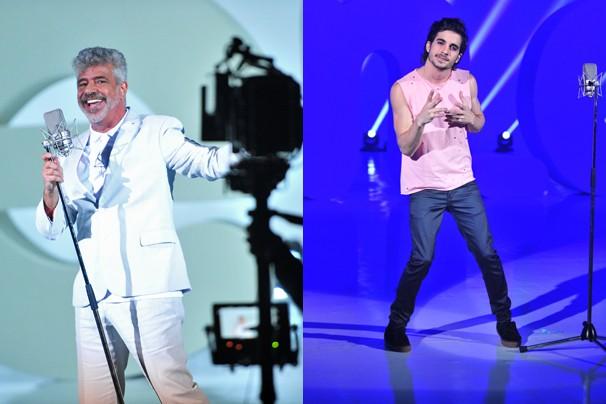 Cheios de estilo e talento, Lulu Santos e Fiuk  (Foto: João Miguel JR./Rede Globo)