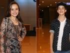 Larissa Manoela e filho de Leonardo vão juntos a show de Luan Santana
