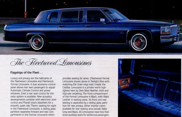 Anúncio do Fleetwood Limousine mostra o carro como a nau capitânia da Cadillac  (Foto: Divulgação)