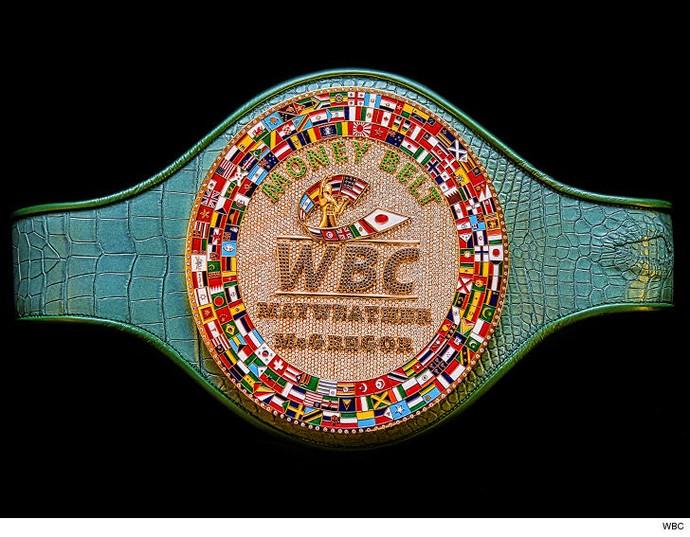 Cinturão de Mayweather x McGregor feito pela WBC (Foto: Divulgação)