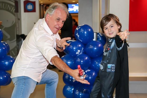 Aniversário de seis anos de Pietro, filho de Otávio Mesquita (Foto: Manuela Scarpa/Photo Rio News)