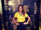 Brasil na cabeça... E no look! Fê Paes Leme dá dicas para uma Copa 'style'