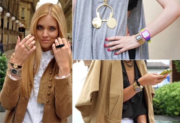 Relógios duplos dão personalidade à roupa (Foto:  )