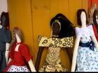 Agricultoras produzem bonecas de pano durante estiagem na Paraíba