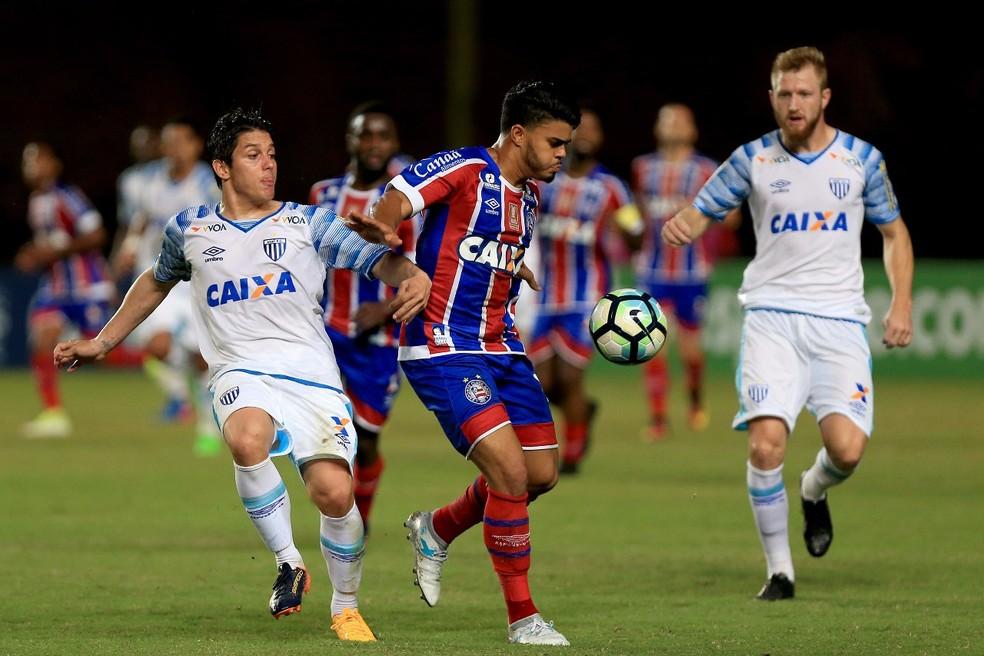 Bahia e Avaí empataram em 1 a 1 no estádio de Pituaçu, em Salvador (Foto: Felipe Oliveira / Divulgação / Bahia)