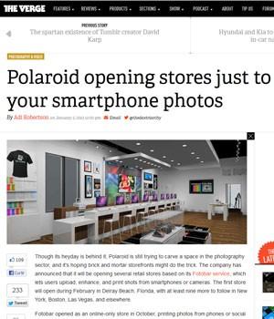 35bb4e7dfc670 Loja física da Polaroid para impressão de fotos digitais e aulas de  fotografia nos EUA.