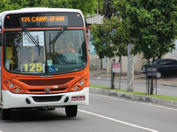 Assim como no primeiro turno, há gratuidade do transporte público em Manaus (Foto: Diego Toledano/G1 AM)