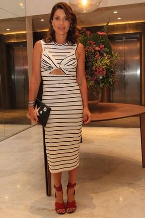 Flávia Alessandra em festa em hotel na Barra da Tijuca, Zona Oeste do Rio (Foto: Wallace Barbosa/ Ag. News)