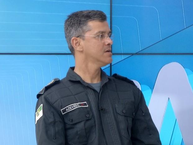 Coronel André Azevedo, comandante da Polícia Militar do RN (Foto: Reprodução/InterTV)