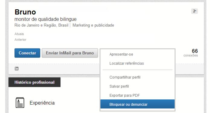 Menu do Linkedin agora tem opção de bloqueio  (Foto: Thiago Barros/TechTudo)