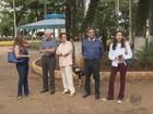 Moradores pedem retirada de ponto de ônibus de praça em Pouso Alegre, MG