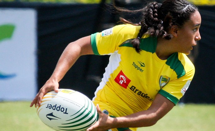 Edna Santini da seleção brasileira de rúgbi feminino (Foto: Divulgação)