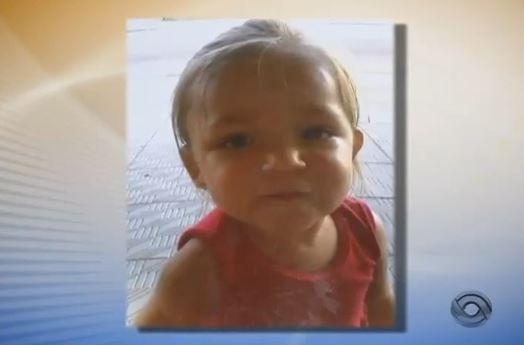 Emili Miranda Anacleto, de 2 anos, em Jaraguá do Sul (Foto: Reprodução/RBS TV)