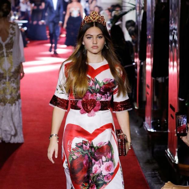 Thylane Blondeau para a Dolce & Gabbana (Foto: Getty Images)