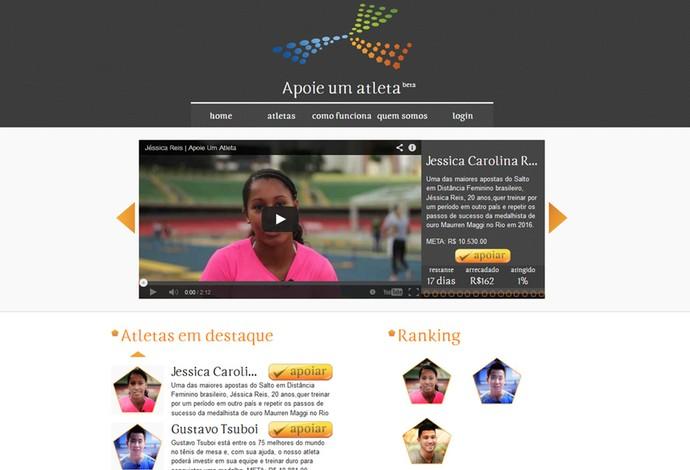 6122d5eecd site ajuda Atleta financiamento (Foto  Reprodução)