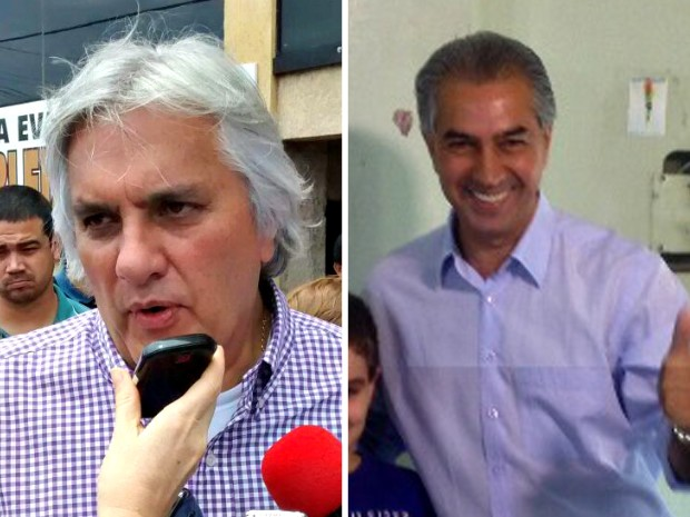 Delcídio e Reinaldo Azambuja disputam o 2º turno em MS (Foto: Editoria de Arte)