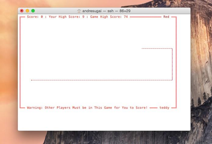 Utilize as teclas para comandar seu jogador (Foto: Reprodução/André Sugai)