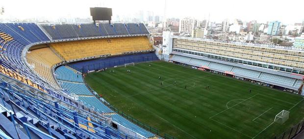Treino Corinthians na La Bombonera (Foto: Marcos Ribolli / Globoesporte.com)