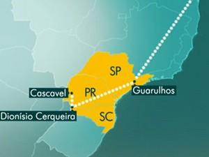 Após deixar a África, paciente passou por duas cidades do Paraná (Foto: Reprodução / Globo)