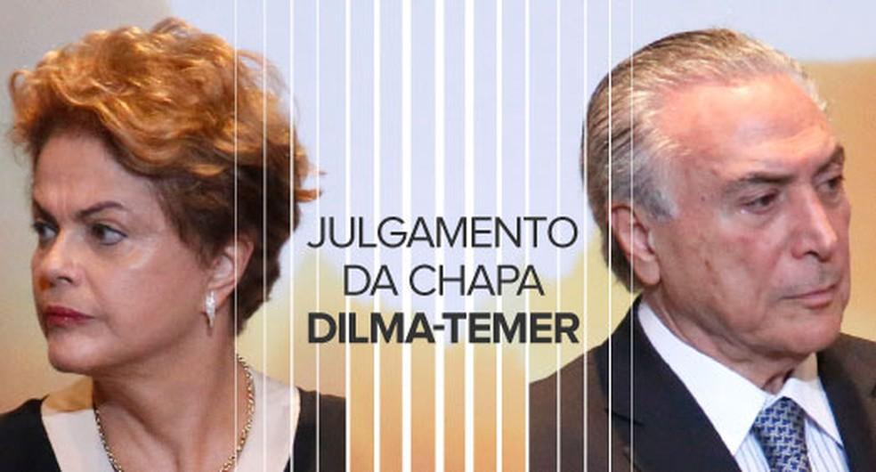 Julgamento da chapa Dilma-Temer no TSE SELO (Foto: Arte/G1)