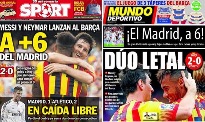 Montagem - capas revistas barcelona (Foto: Editoria de Arte)