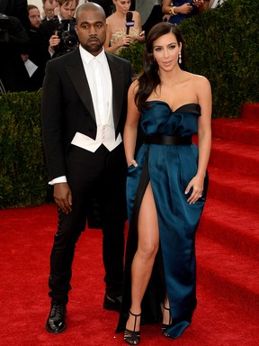 Kanye West e Kim Kardashian no MET Gala (Foto: AFP / Agência)