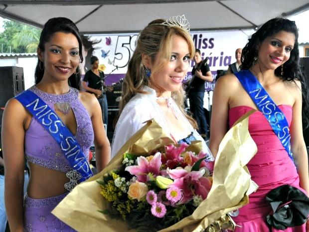 As três primeiras colocadas no concurso Miss Penitenciária 2012 (Foto: Hélder Rafael/G1 MS)