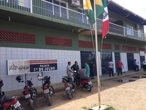 Sede da Prefeitura de Mucajaí (Foto: Vanessa Lima/G1 RR)