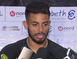 Gustavo Henrique, Zagueiro, Botafogo-PB (Foto: Reprodução / TV Cabo Branco)