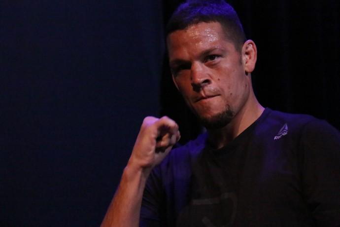 Nate Diaz; treino aberto; UFC 202 (Foto: Evelyn Rodrigues)