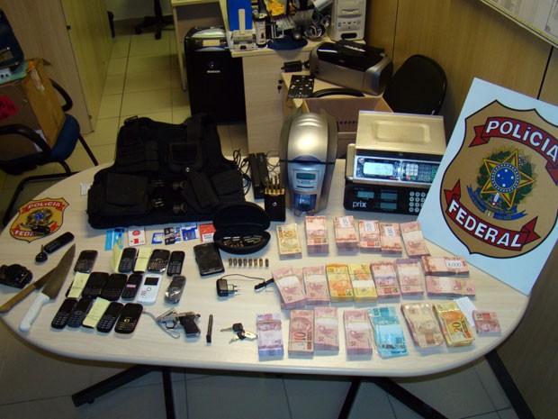 Material apreendido em poder de suspeito está com a PF potiguar (Foto: Divulgação/Polícia Federal)