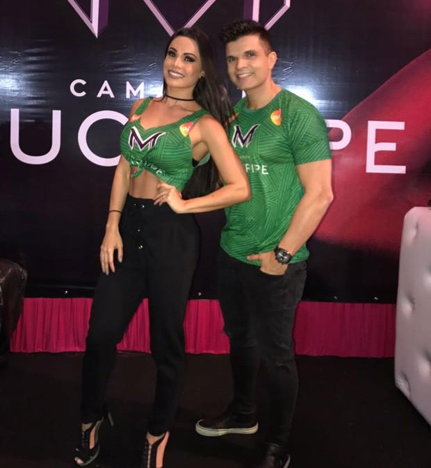 Fernanda D'Avila e o marido, Marcos Júnior (Foto: Divulgação)