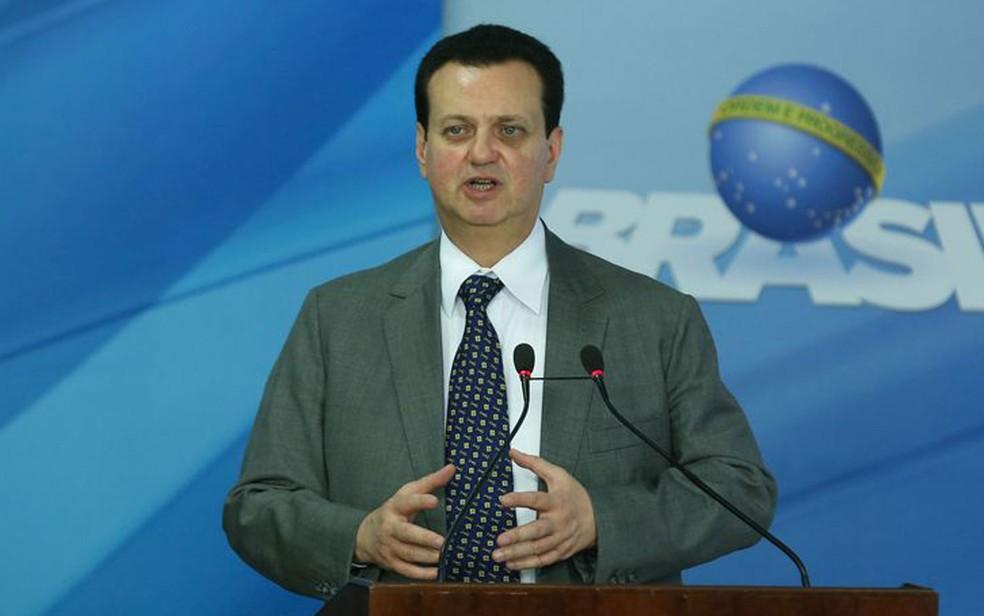 O ministro Gilberto Kassab durante cerimônia no Palácio do Planalto de sanção de lei sobre radiodifusão (Foto: Valter Campanato / Agência Brasil)