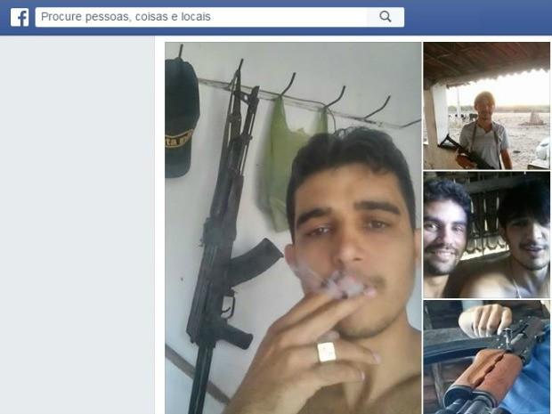 Fotos em celular do suspeito ajudaram a polícia a localizá-lo (Foto: Facebook/Reprodução)