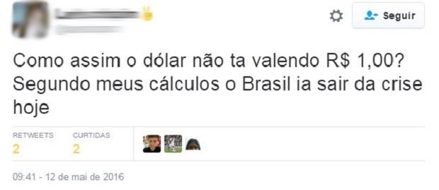 Usuários No Twitter Comentam A Cotação Do Dólar Nesta Quinta Foto Reprodução