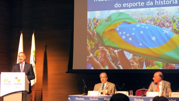 Carlos Arthur Nuzman apresentação do orçamento Rio 2016 Olimpíadas (Foto: Leonardo Filipo)